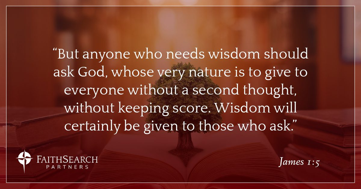 Great Leaders ask for Wisdom