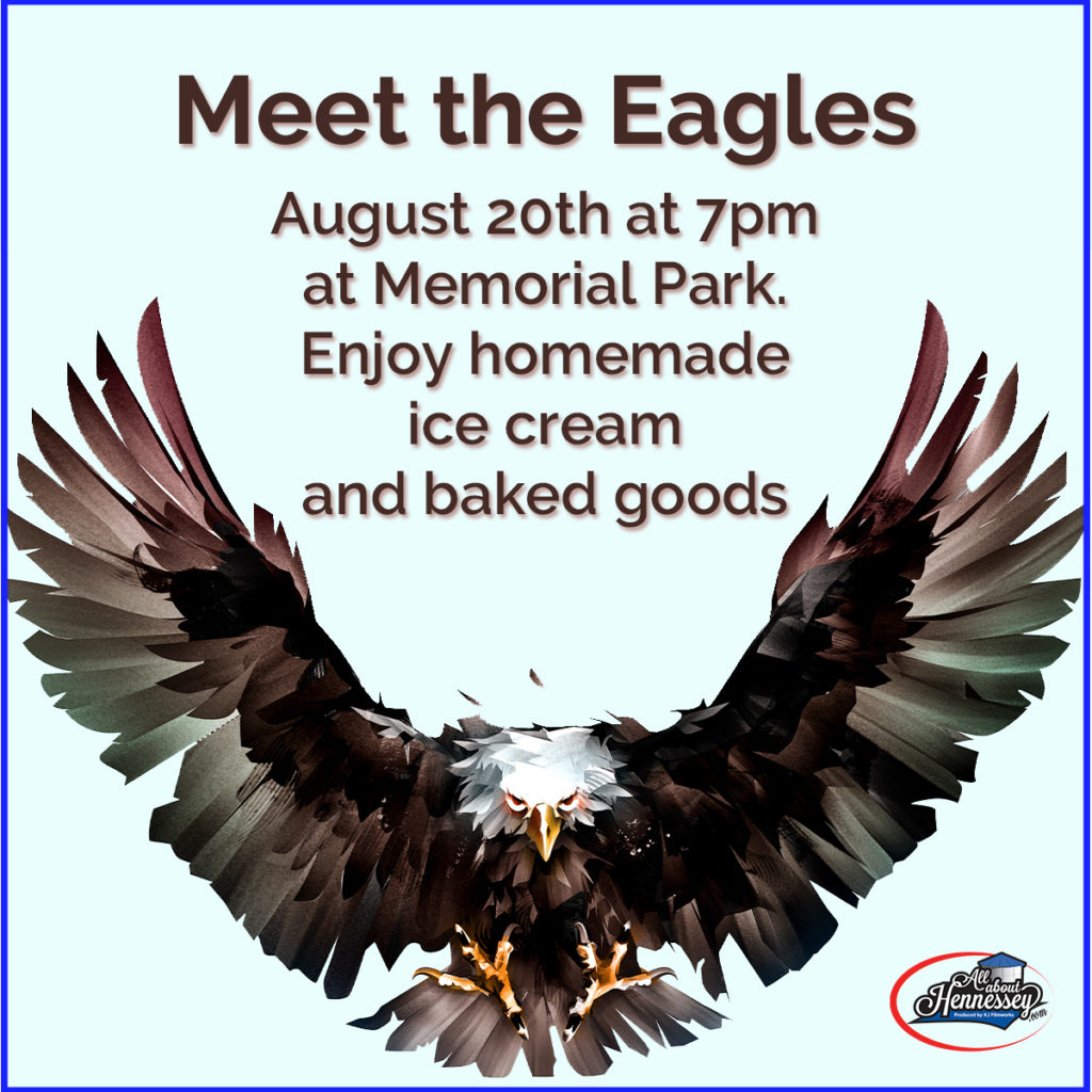 Meet the Hennessey Eagles at memorial park in Hennessey
