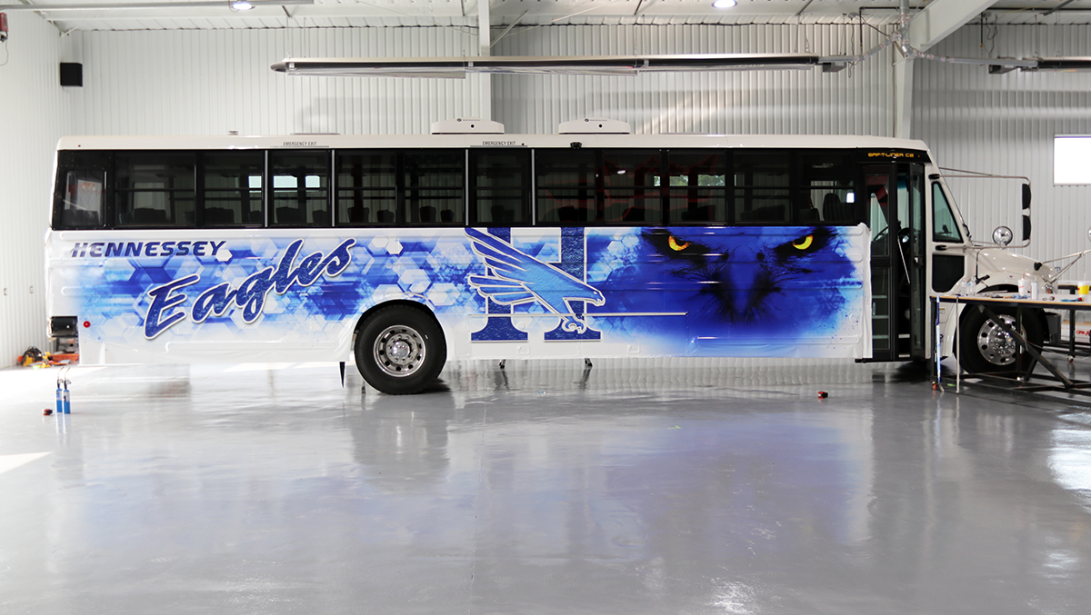 WRAPPING THE BUS