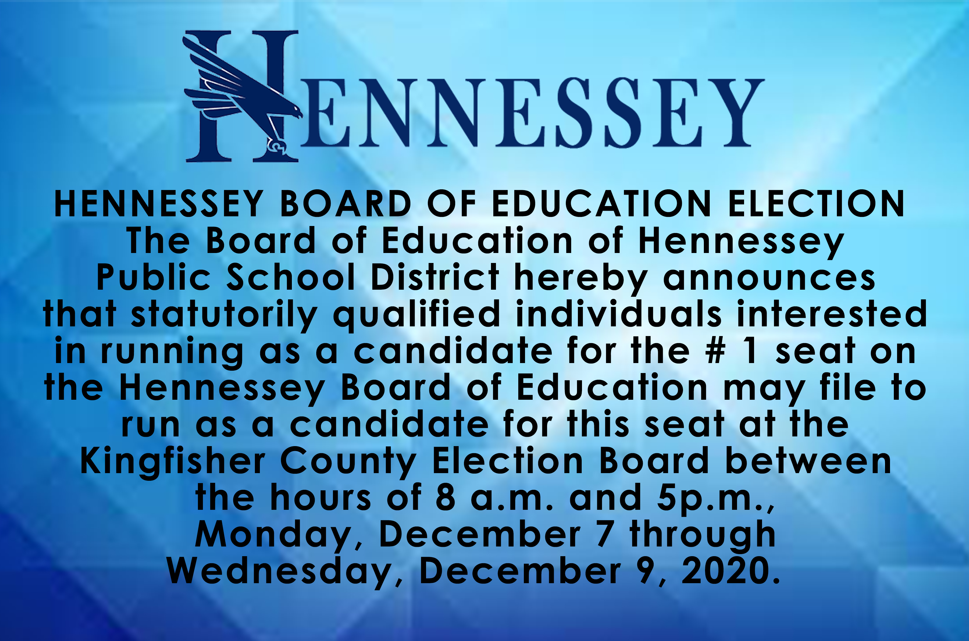 HENNESSEY BOARD OF EDUCATION ELECTION