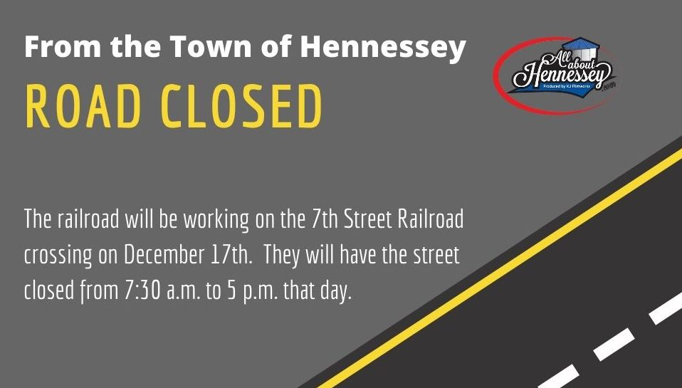 7TH STREET BY RAILROAD CLOSED FOR CONSTRUCTION.
