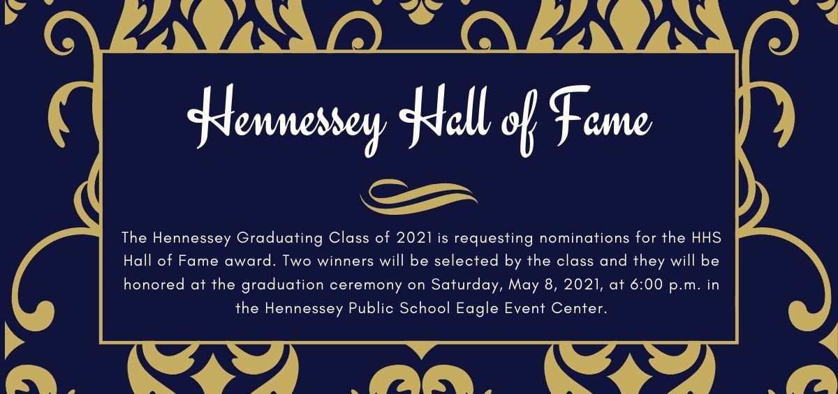 NOMINATE YOUR HHS HALL OF FAME NOMINEE