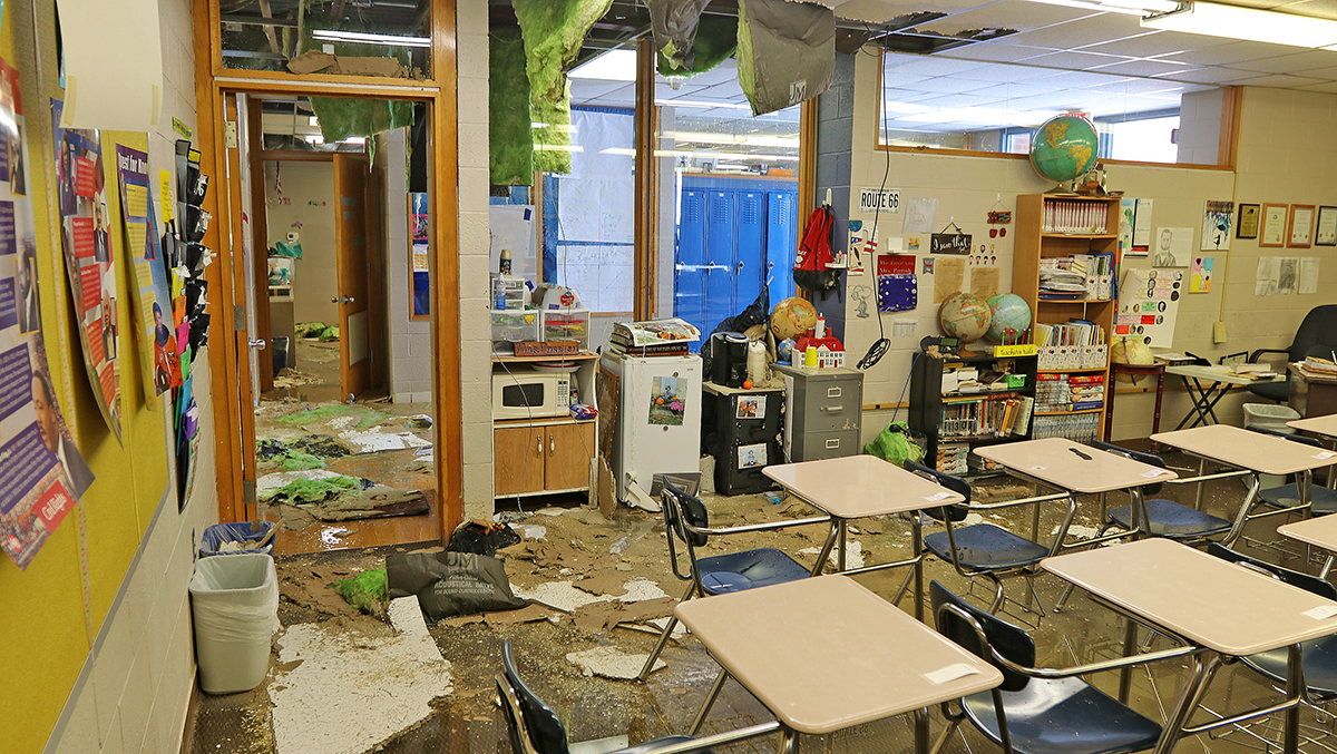 SIGNIFICANT DAMAGE AT HENNESSEY SCHOOLS